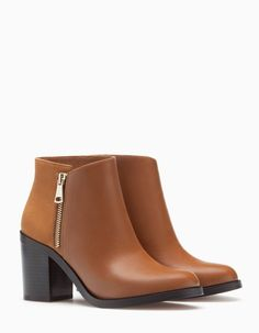 High heel ankle boots with zip detail - BOOTS AND ANKLE BOOTS - WOMAN | Stradivarius Romania
