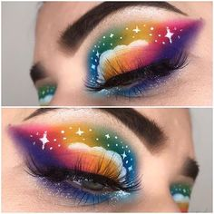 If there is something we can appreciate about this lock down it's how many creative looks you guys have tagged us in Rainbow Palette, Rainbow Makeup, Amazing Makeup, Glitter Makeup, Creative Makeup, Infinite, Best Makeup Products, Makeup Brushes, Appreciation