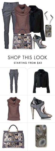 """Shades of gray"" by juliehooper ❤ liked on Polyvore featuring Vivienne Westwood Anglomania, Philipp Plein, Ralph Lauren, Roberto Cavalli, Dolce&Gabbana, The Case Factory and Paige Novick"