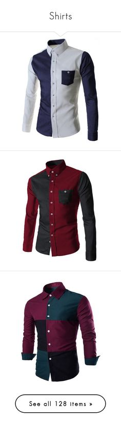 """Shirts"" by errecsak on Polyvore featuring men's fashion, men's clothing, men's shirts, men's casual shirts, mens casual button down shirts, mens long sleeve casual shirts, men's color block shirt, mens collared shirts, mens casual button up shirts and shirts"