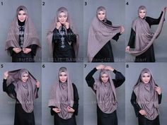 Islamic Fashion, Muslim Fashion, Hijab Fashion, How To Wear Hijab, Hijab Style Tutorial, Hijab Ideas, Hijab Styles, Abayas, Hijabs