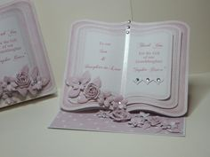 (Ref:D4) Easel card 18.5cm x 15cm. A baby girl bookeasel download from the Clipart Fairy