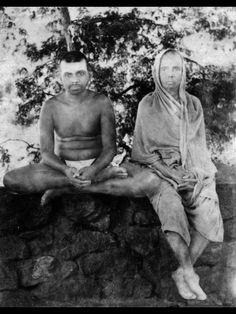 Sri Ramana Maharshi and his mother.