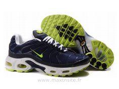 official photos f0928 02315 Chaussures de Nike Air Max Tn Requin Homme Bleu foncé Blanc et Vert Prix Tn  Nike