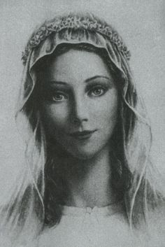 The face of Our Lady? Seems accurate based on revelation to Blessed Mary of Agreda and Anne Catherine Emmerich.