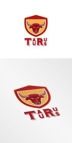 Taurus Southern Style Grill Logo by patrimonio on Creative Market