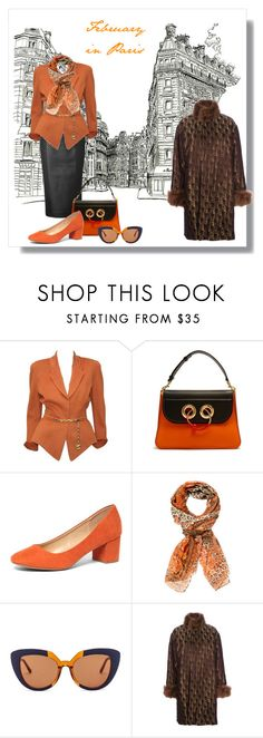 """""""February in Paris"""" by jonna-hansen ❤ liked on Polyvore featuring L'Wren Scott, Thierry Mugler, J.W. Anderson, Dorothy Perkins, Versace, Marni and Jean-Paul Gaultier"""
