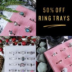♕ 50% OFF RING TRAY TREASURES! Code: BLACKOUTWEEK ♕ shopdixi.com ♕ dixi // jewellery // jewelry // boho // bohemian // grunge // goth // dark // mystic // magic // witchy // sterling silver // pearl // rings // jewels // gold // black // pearl // abalone // choker // necklace