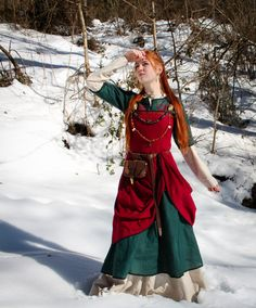 Viking dress Freya viking apron linen dress