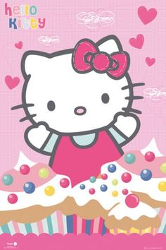 Hello Kitty : Cupcakes - Maxi Poster x (new & sealed) Trendy Wallpaper, Love Wallpaper, Cute Wallpapers, Hello Kitty Backgrounds, Hello Kitty Wallpaper, Hello Kitty Imagenes, Snowman Cupcakes, Ladybug Cupcakes, Giant Cupcakes