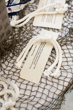 "Nautical ""Tying the Knot"" Themed Wedding
