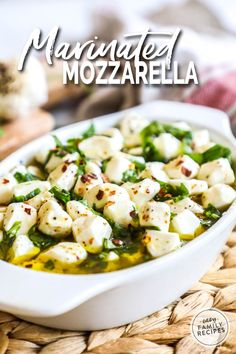 This recipe for Marinated Mozzarella Balls hits it out of the park on flavor! The perfect cheese to serve as an appetizer or add to a charcuterie or cheese board. Mushroom Appetizers, Cheese Appetizers, Finger Food Appetizers, Yummy Appetizers, Finger Foods, Italian Appetizers, Marinated Cheese, Marinated Mushrooms, Quick And Easy Appetizers