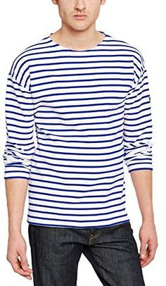 Armor Lux Men's 1525 Striped Long Sleeve T-Shirt