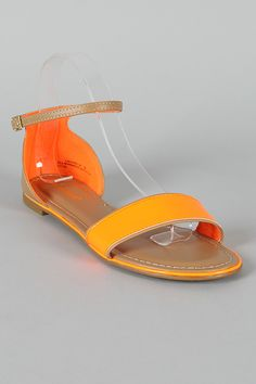 Bamboo Laguna-08 Neon Patent Open Toe Flat Sandal  Just bought them and love them!