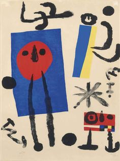 Miro - I actually knew someone who had a Miro, a Picasso (litho), & a Dali! Max Ernst, Spanish Painters, Spanish Artists, Magritte, Dali, Kandinsky, Miro Artist, Joan Miro Paintings, Graffiti