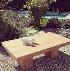 Beau Block table, congratulations #1 coffee table in June at shabby stores. (shabbychic.com & stores. Simple & Solid. Can be customized to any size, made in USA) #shabbychic #rachelashwell #musthave