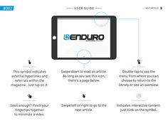 Enduro mountain bike magazine Digital magazine for ipad/iphone Layout & description of Menu and Navigation features found in the magazine. Explains to user how to use the interactive features
