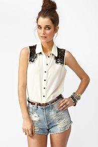 Fringed Lace Shirt - Ivory
