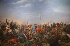The Battle of Stamford Bridge (1066). Painting by Peter Nicolai Arbo
