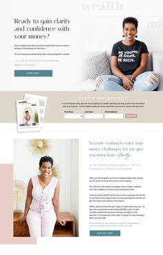 Best Websites For Coaches. Financial coaches, health and wellness coaches. You are a professional. Does your website reflect that? Website Design Inspiration, Beautiful Website Design, Website Design Layout, Web Layout, Website Designs, Website Themes, Website Ideas, Identity, Site Internet