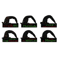 IF THE HAT FITS TABLE WALL 6 ASSORTED