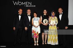 Pierre Lescaut, Thierry Fremeaux, Leyla Bouzid, Gaya Jiji, Ida Panahandeh and Francois- Henry Pinault, attend the Award Ceremony during Kering And Cannes Festival Official Dinner At The 69th Cannes Film Festival at Place de la Castre on May 15, 2016 in Cannes, France.