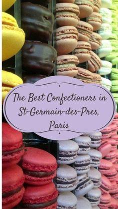 A guide to Paris chocolate, maceron, confectionery shops and patisseries in Saint-Germain-de-Prés with handy map.