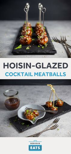 The meatballs are a perfect size for dipping with a party toothpick.