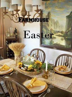 A Stroll Thru Life: Farmhouse Style Easter Table