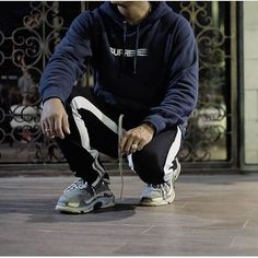 Retro Pants & Balenciaga Triple S // Black/White // Available now at @longlineclothingstore http://ift.tt/2gsb5sd