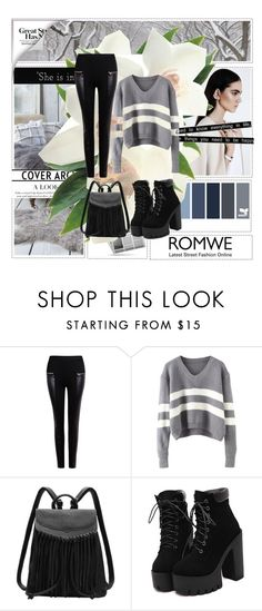 """""""NEW CONTEST ! Link in description"""" by followme734 ❤ liked on Polyvore featuring Friend of Mine, women's clothing, women, female, woman, misses, juniors and romwe"""