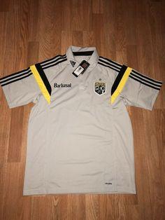 3b8fbfca0 Ad(eBay) Adidas MLS Columbus Crew Grey Brand New Polo Size Mens Large  65