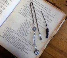 Beaded Upcycled Bookmark Bookmark Metal Bookmark by SCWVintage