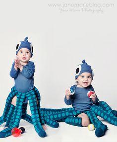 Baby Halloween costume idea: Blue Octopus