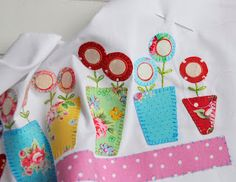 Helen Philipps: applique flower pots, so cute