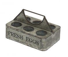 Portauova in ferro Fresh eggs - cm Home Living, Cigar Cutter, Vintage, Gray, Objects, Vintage Comics
