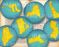 12 united states map collection digital collage sheet 2 inch