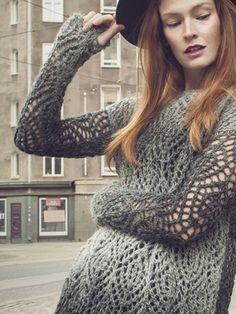 Naisen pitsineuletunika Novita Usva | Novita knits