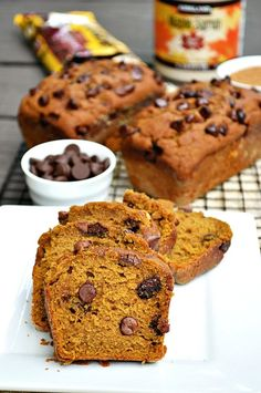 Can it really be that this Gluten Free Healthy Chocolate Chip Pumpkin Bread is healthy??? Well, besides the dark chocolate chips, there ain't an ounce of refined sugar. Eat all you want! PUMPKIN!!!!! Rarely do I ever get to spend time with Braelyn alone. With Emry it's easy. Braelyn is at school during the day, … Pumpkin Chocolate Chip Bread, Dark Chocolate Chips, Healthy Chocolate, Pumpkin Pie Mix, Canned Pumpkin, Gluten Free Pumpkin Bread, Sugar, Baking, Eat