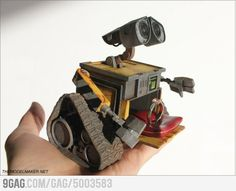 """This Wall-E engagement ring box   """"Would you be the Eva to my Wall-E?"""" """"YES YES YES""""...only one person I know would get this and love it like I do."""