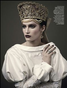 Marta Berzkalna: VOGUE Russia. Photographer: Mariano Vivanco