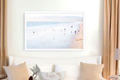 Large Beach Photography // Santa Monica Beach Print // California Dreamin' // Santa Monica Ocean Beach Landscape - Large Beach Print LA by minagraphy on Etsy https://www.etsy.com/listing/214241130/large-beach-photography-santa-monica