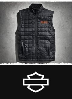 Our heated motorcycle vest is an excellent mid-layer to help take the chill off in cooler riding weather or as a casual vest when worn alone. | Harley-Davidson Men's Stimulate Heated 7V Vest