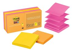 Post-it Super Sticky Pop-up Notes 3 in x 3 in Rio de Janeiro Collection 10 Pa... #Postit