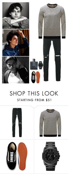 """""""Cole Sprouse"""" by mrsstylik1999 ❤ liked on Polyvore featuring RtA, Vans, Chanel, men's fashion and menswear"""