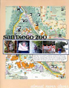 Scrapbook Layout: San Diego Zoo by Natalie Parker