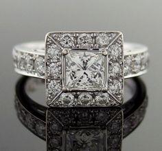 stunning!  Diamond LEO 1.42 Carat Engagement 14kt White Gold Ring by baffy21, $2800.00