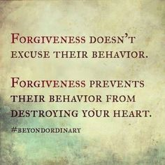 The gift of forgiveness!  A gift to myself.  You can only try so much if someone won't meet you somewhere along the way