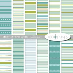 digital paper stripes by moo and puppy