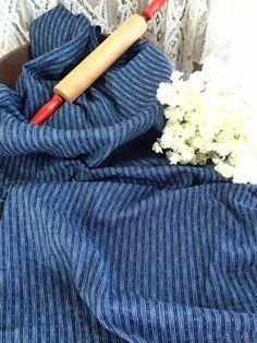 "Yardage 74"" of Antique 1880's Indigo Blue Printed Cotton Fabric 24"" Wide | eBay"